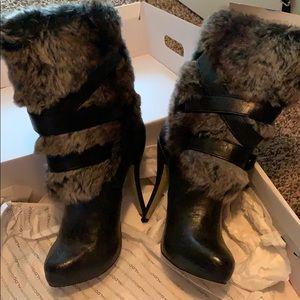 Women high heel winter boots